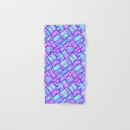 Video Game Controllers in Cool Colors Hand & Bath Towel