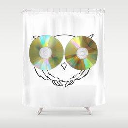 CD Owl Shower Curtain