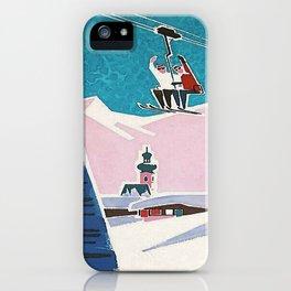 Bavaria, Germany Vintage Ski Travel Poster iPhone Case