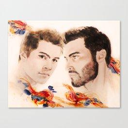 Orange and Blue Canvas Print