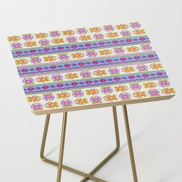 Floral Ikat Pattern Side Table
