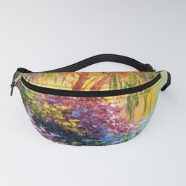Willow over the pond  Fanny Pack