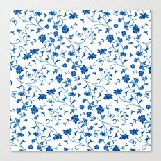 Blue China on White Canvas Print