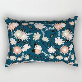 Marseille - Floral Pattern Rectangular Pillow