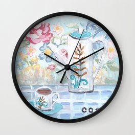 Coffee Chat Wall Clock