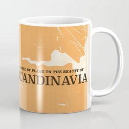 SCANDINAVIA Nature vintage travel poster Coffee Mug