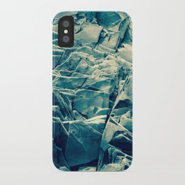 Cracked Rocks Blue iPhone Case