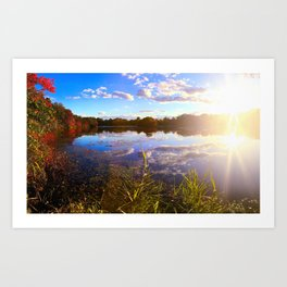 Lake Sun Art Print