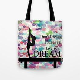 Gymnastics Live Your Dream Design Tote Bag