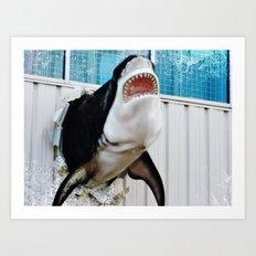 half a shark Art Print