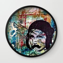Life Can Be Hard. So Put on a Moustache and Love One Another. Wall Clock