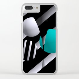 go turquoise -6- Clear iPhone Case