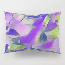 Heavenly Rose Petals Abstract - Purple Pillow Sham