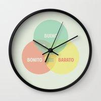 Bueno Bonito Barato Wall Clock