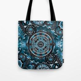 Blue Gear Wall Tote Bag