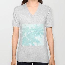 Palm Trees Cyan Kihei Maui Hawaii Unisex V-Neck