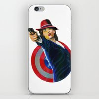peggy carter iPhone & iPod Skins featuring Peggy Carter by Farah Jayden
