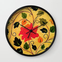 Bright red rose Wall Clock