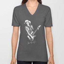 Stevie Ray Vaughan - Guitar-Blues-Rock-legend Unisex V-Neck