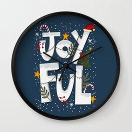 Joyful Holiday Wall Clock