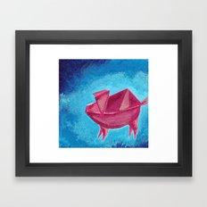 Origami Pig 3 Framed Art Print