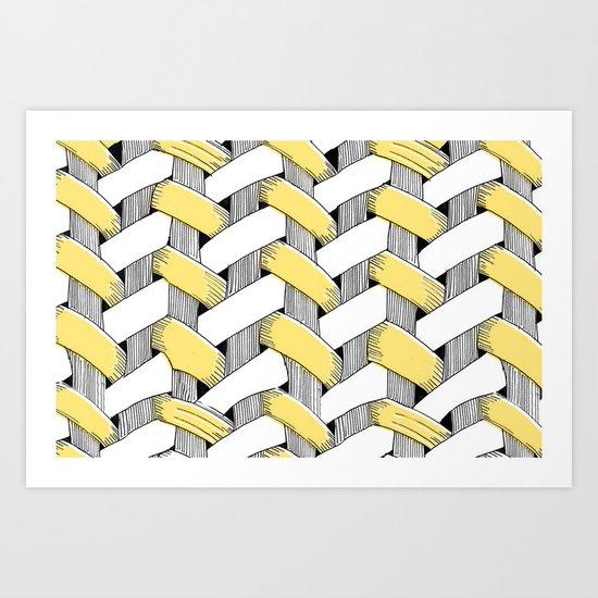 Basket Weave Art Print