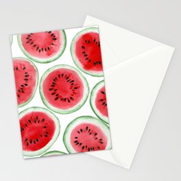 Watermelon slices pattern Stationery Cards