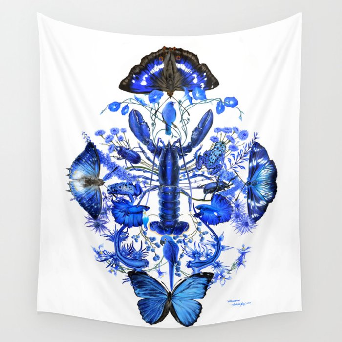 Ultramarine Wall Tapestry