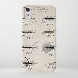 Fly Fishing Patent - Fisherman Art - Antique iPhone Case