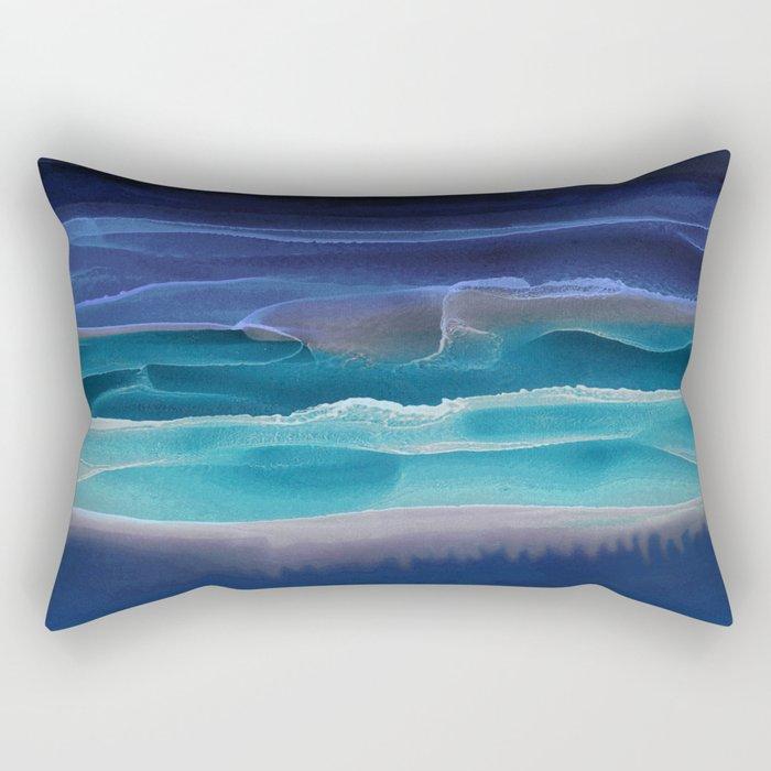 Alcohol Ink Seascape 3 - Sea at Night Rectangular Pillow