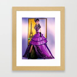 ESCAPE TO LOVE FASHION ILLUSTRATION BY JAMES THOMAS RYAN Framed Art Print