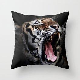 Save animal save Tiger Throw Pillow