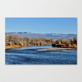 Autumn on the  Gunnison River in Colorado Canvas Print