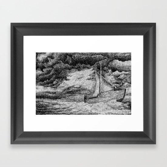Fingerprint - Sailing Framed Art Print