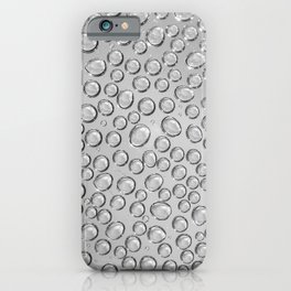 water drops on the glass iPhone Case