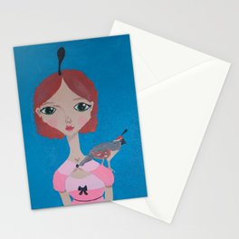 ~ Quail ~ 10 Year Old Amelia's Arizona Critter Girl Stationery Cards