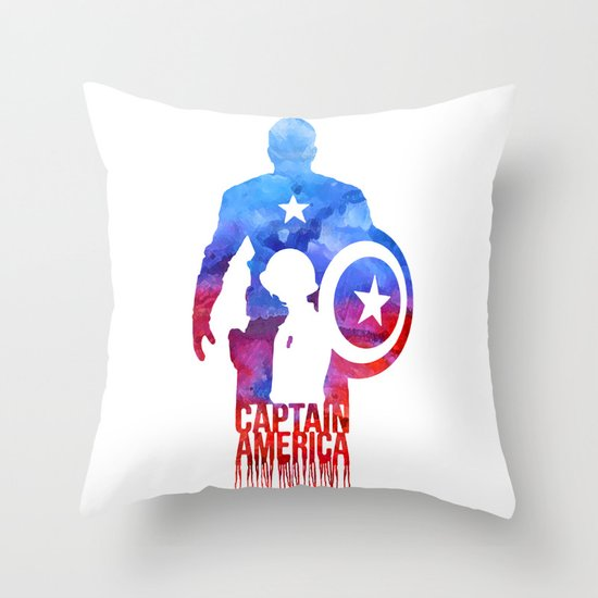 Captain America Throw Pillow