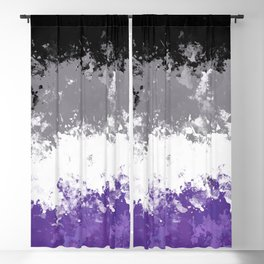 Asexual Pride Flag Blackout Curtain