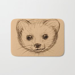 Baby Mongoose Sketch Bath Mat