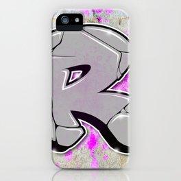 R - Graffiti letter iPhone Case