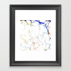 Marbled Blue Veins Framed Art Print