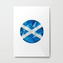 Scotland Flag Icon Circle Low Polygon Metal Print