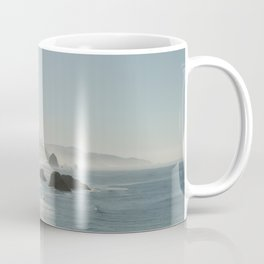 Hazy Morning at Cannon Beach, Oregon - Fine Art Film Travel Photography Coffee Mug
