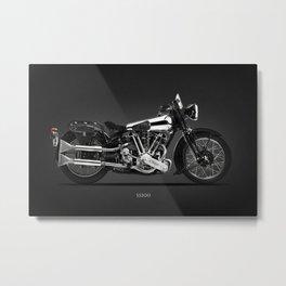 The SS100 Vintage Motorcycle Metal Print