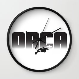 Orca Whale Graphic Print Wall Clock