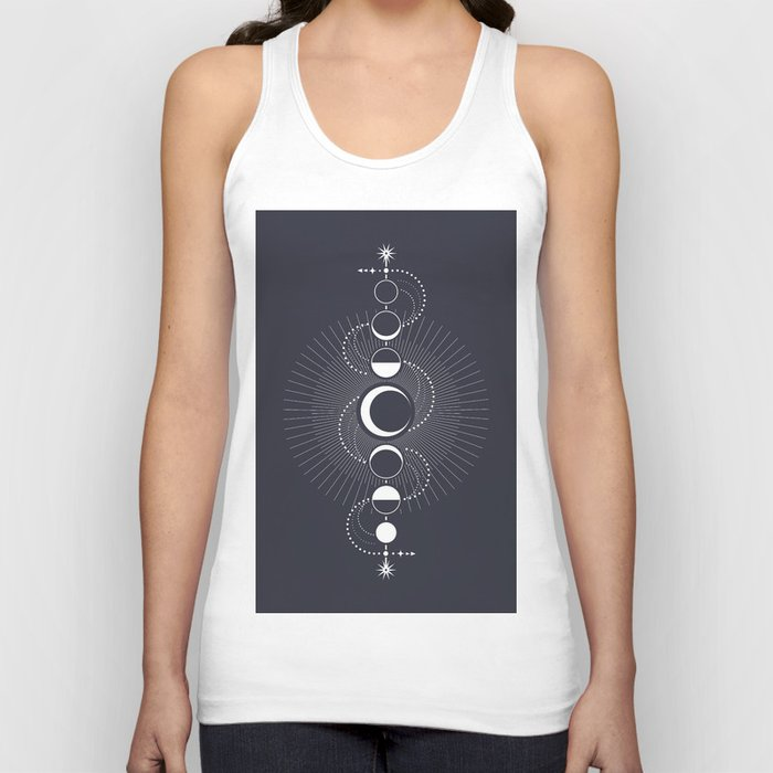 The Moon Fluctuation Unisex Tanktop
