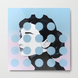 Audrey (Dots) by Famous When Dead Metal Print