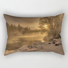 Frosty Riverside Rectangular Pillow