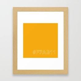 #F7AB11 [hashtag color] Framed Art Print