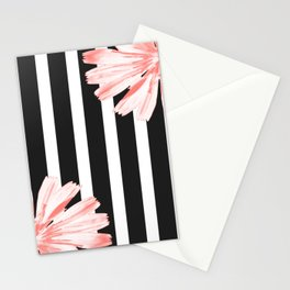 Cichoriums on stripes Stationery Cards